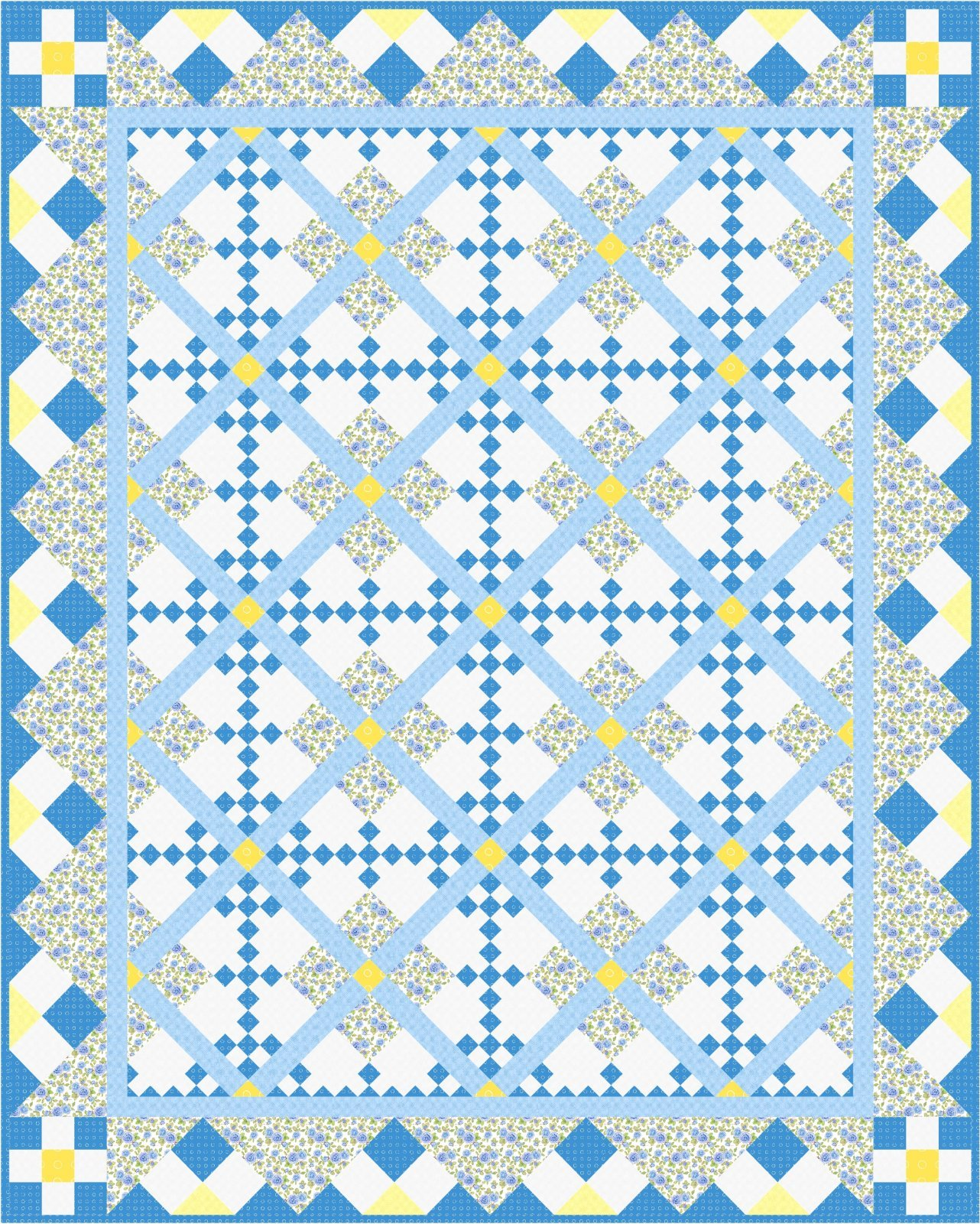 Happy Days Quilt Pattern by Morning Glory Designs