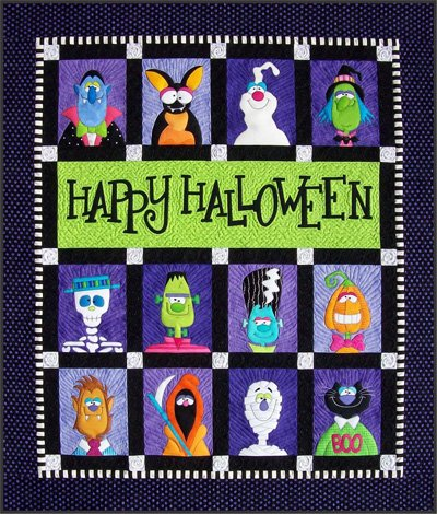 Happy Halloween Quilt Epattern by Amy Bradley Designs