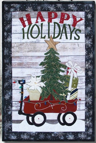 Happy Holidays Wagon Mini Quilt Pattern by Patchabilities
