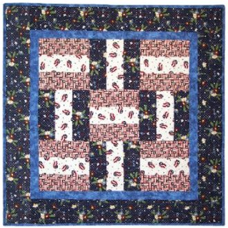 Basket Weave Table Topper Pattern by Happy Apple Quilts