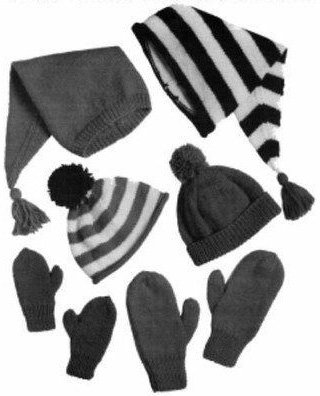 Hats and MIttens Pattern #26 by Yankee Knitter Design