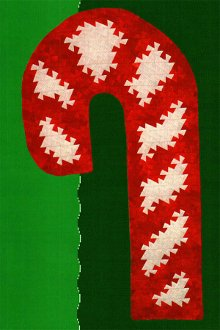 Candy Cane Twist Wallhanging and Quilt Pattern in 3 Sizes by Handcrafts by Jennifer
