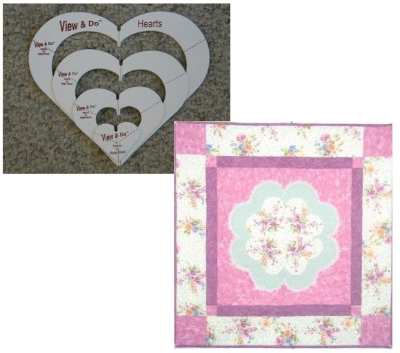 Springtime Hearts Quilt Pattern in 4 Sizes FREE with View & Do Hearts Purchase by Kaye Wood