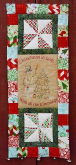 Christmas is Love Quilted Embroidery Wallhanging Pattern by Hudson's Holiday Designsttern by Hudson Holidays Designs