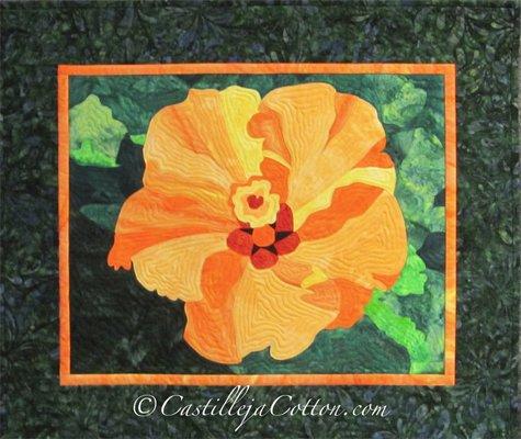 Hibiscus Quilt Epattern by Castilleja Cotton