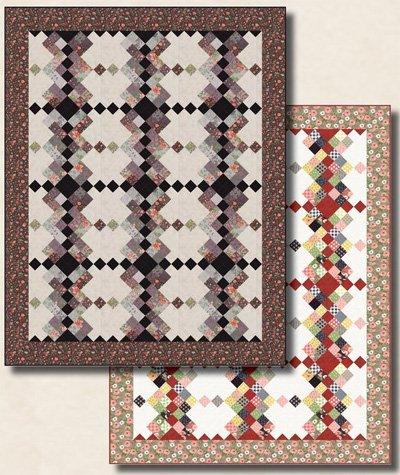 Hidden Terrace Quilt Pattern in 3 Sizes by Antler Quilt Designs
