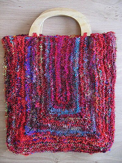 Himalaya Tote and Shoulder Bag Knitting Pattern by Just One More Row