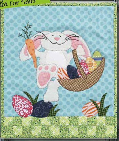 Hippity Hoppity Easter Bunny Wallhanging Epattern by Patchabilities