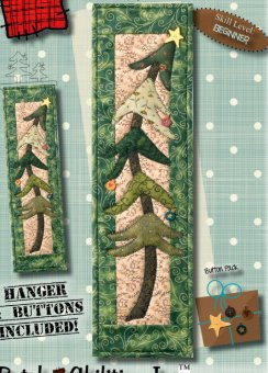 Holiday Tree Banner Pattern with Hanger and Buttons Included by Patchabilities