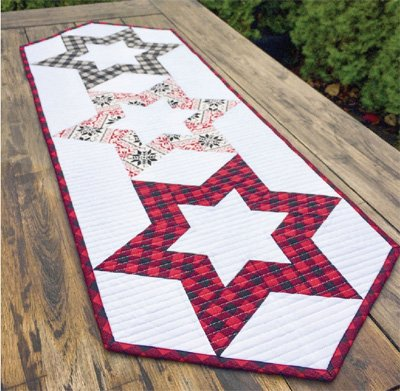 Hollow Star Table Runner Pattern by Cut Loose Press