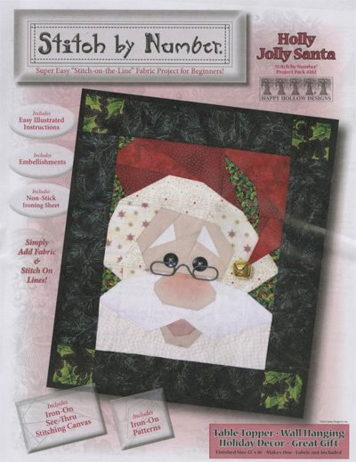 Holly Jolly Santa Stitch by Number Quilt Pattern by Happy Hollow Designs