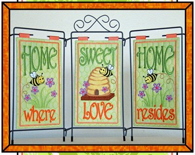 Home Sweet Home Table Top Display Set of 3 Patterns and DVD by Janine Babich Design