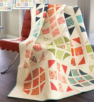 Hopscotch Happy Quilt Pattern in 4 Sizes by Robin Pickens