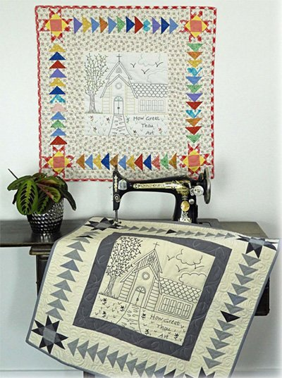How Great Thou Art Wallhanging Epattern by Charisma Horton