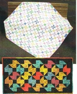 Pinwheel Table Runner and Lap Quilt Pattern by Hopscotch Quilt Shop