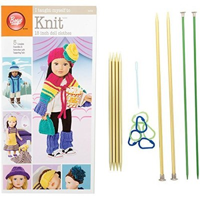 I Taught Myself to Knit 18 Doll Clothes Kit by Boye