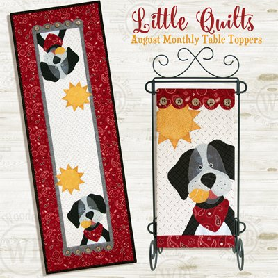 August Dog Days Pattern and Button Packs for Small Wallhanging and Tablerunner by The Wooden Bear
