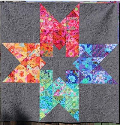 In 2 Stars Quilt Pattern by Free Bird Quilting Designs