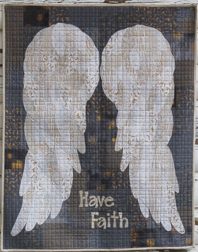 In The Arms of the Angels Wallhanging Pattern by Cotton Street Commons