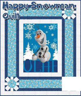 Happy Snowman Quilt Pattern by It's Sew Emma