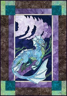 Elemental Water Dragon Wallhanging/ Quilt Pattern by Izzyisms