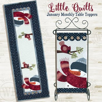 January Blizzard Buddies Applique Pattern and Button Packs by The Wooden Bear