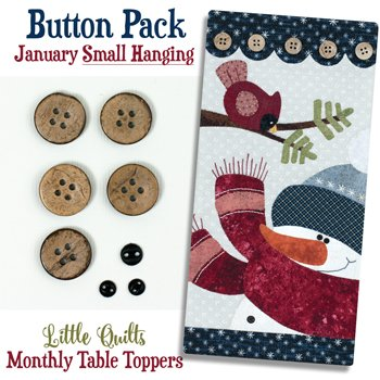 January Blizzard Buddies Button Pack for Small Wallhanging by The Wooden Bear