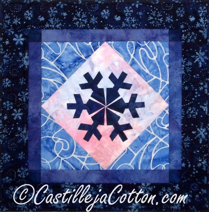 January Snowflake Mini Quilt Epattern
