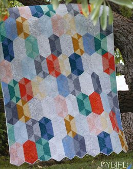 Disco Quilt Pattern in 5 Sizes by Jaybird Quilts