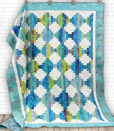 Jelly Roll Blues Quilt Pattern by Cut Loose Press