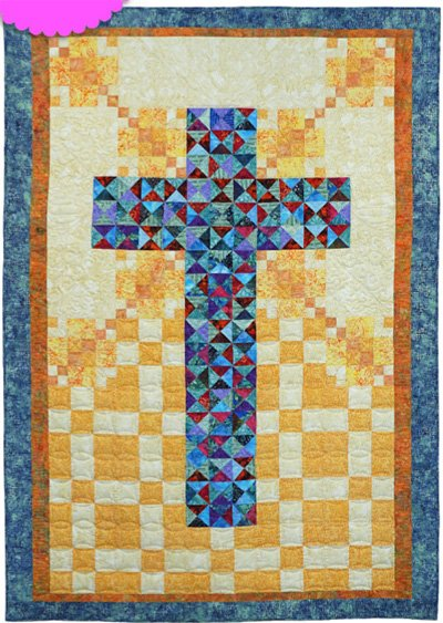 Jeweled Cross Quilt Epattern by Charisma Horton