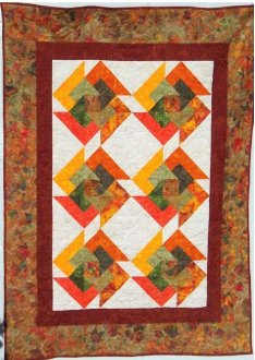 Autumn Swirl Quilt Pattern by Julia Gray Creations
