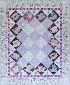 Cupsy Turvey Lap Quilt Pattern by Java House Quilts