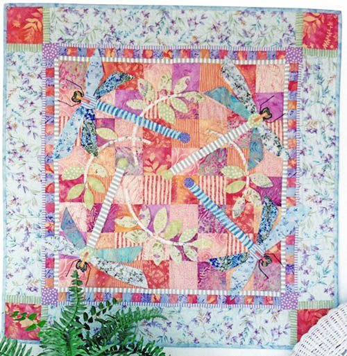 Dragonfly Meadow Quilt Pattern by Java House Quilts