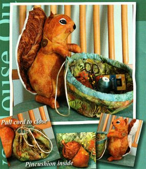 Squirrel It Away Squirrel Basket Pattern by Java House Quilts