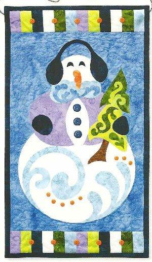 Frosty Fellow Banner/Tablerunner Pattern by Jeri Kelly