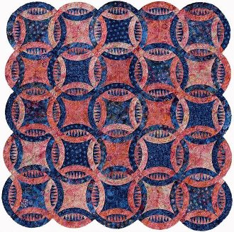 Cotton Candy Sawtooth Wedding Ring Quilt Pattern by Judy Neimeyer of Quiltworx