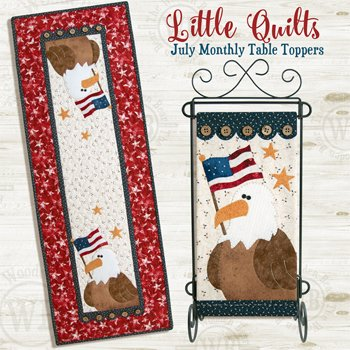 July Eagle Salute Applique Wallhanging and Tablerunner Pattern by The Wooden Bear