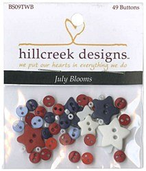 July Blooms Button Set by Hillcreek Designs