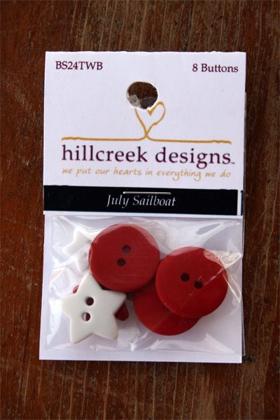July Sailboat Button Pack by The Wooden Bear