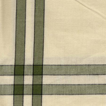 Tea Towel Sage Cream with Black Stripe