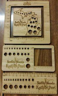 Wooden Needle Gauges/Rulers by Katrinkles at KayeWood
