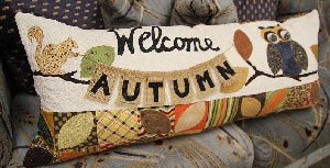 Welcome Autumn Bench Pillow Pattern by Kimberbell
