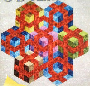 3-D Ribbons Quilt Pattern by Karen Combs