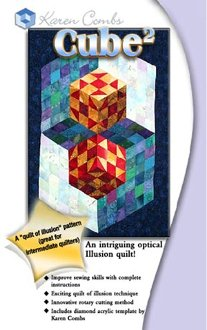 Cube 2 Wallhanging Pattern With Templates by Karen Combs