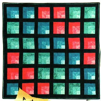 Mod Attic Windows Quilt Pattern by Karen Combs