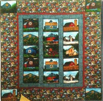 Quilt Barns Quilt Pattern by Karen Combs