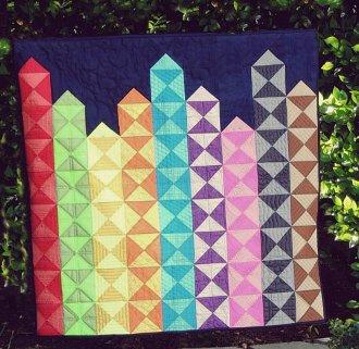 Bright Lights Big City Quilt Pattern by Kelli Fannin