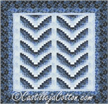 King Whale Tails Quilt EPattern by Castilleja Cotton