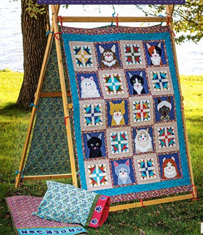 Kitty Tent Quilt, Pillowcase, Sleeping Bag and Tent Pattern by The Whole Country Caboodle